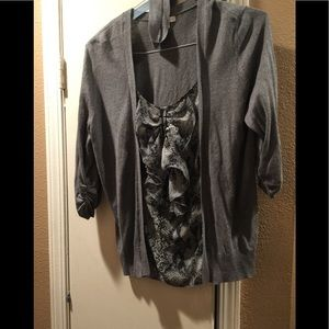 Ny and co xl knit sweater twinset look